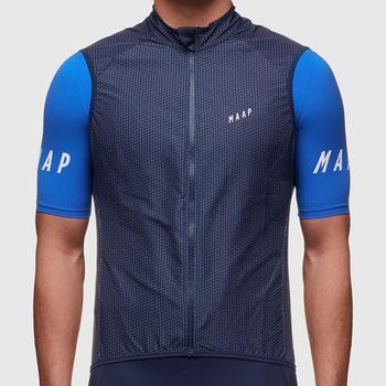 2019 koszula jesienna jakość MAAP lekka wiatroszczelna kamizelka rowerowa mężczyźni lub kobiety kolarstwo wiatr kamizelka 2 0 kolarstwo znosić tanie i dobre opinie SPEXCEL spandex Poliester Vest Anty-pilling Anti-shrink Sprężone Oddychająca Odblaskowe Szybkie suche Pasuje prawda na wymiar weź swój normalny rozmiar