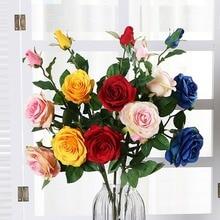 Rose Simulation Flower Silk Flower Artificial Flower Wedding Wedding Home Decoration Engineering Simulation Plant ключ гаечный zipower pm 4188 32мм