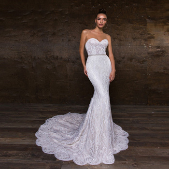 SJ244-D custom made sweetheart Beaded Applique Mermaid Cheap Wedding Dresses Plus Size Womens Bridal Gowns