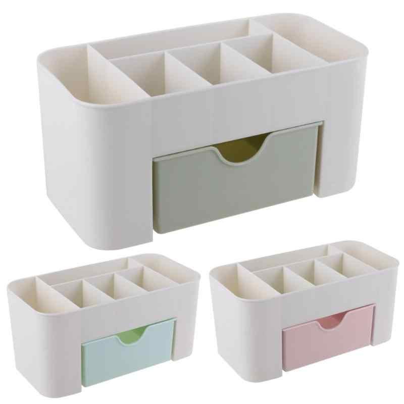 Maquillage organisateur pliable cosmétique boîte de rangement bureau en plastique conteneur boîte de rangement de bureau organisateur de stockage accessoires pour la maison