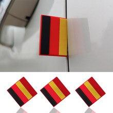 Emblema de decoración de la bandera alemana para puerta del coche, rejilla delantera del maletero, TSI para VW Polo Golf Passat Magotan artefacto B5 B7 Tiguan Amarok, 1 Uds.