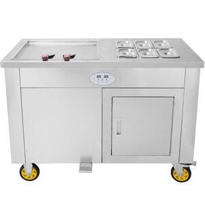2020 Топ Номинальная Одиночная квадратная сковорода с 6 баресцис машина для мороженого машина для крена крема