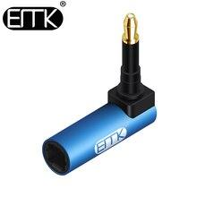 EMK Toslink a Mini Toslink Adattatore M/F 3.5mm 90 Gradi Angolo Retto SPDIF Ottica Connettori del Cavo Audio per Macbook, TV Box