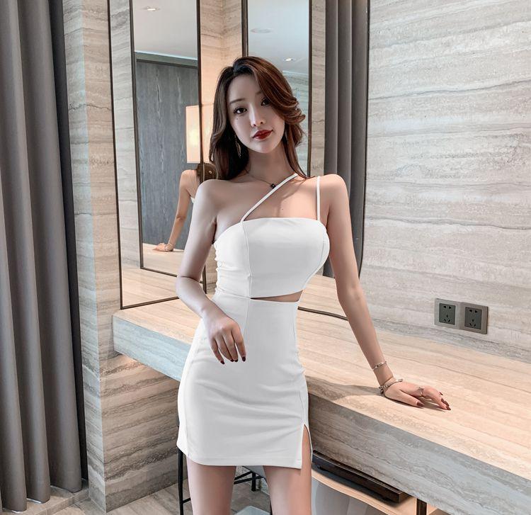 Женское облегающее платье на бретелях, элегантное платье с глубоким вырезом и открытыми плечами для ночного клуба, лето 2021