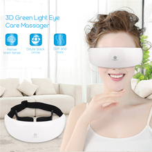 3D Rechargeable Green Light Eye Protection Acupunture Restore vision Eye Massager Child Myopia Treatment Massage eye glasses