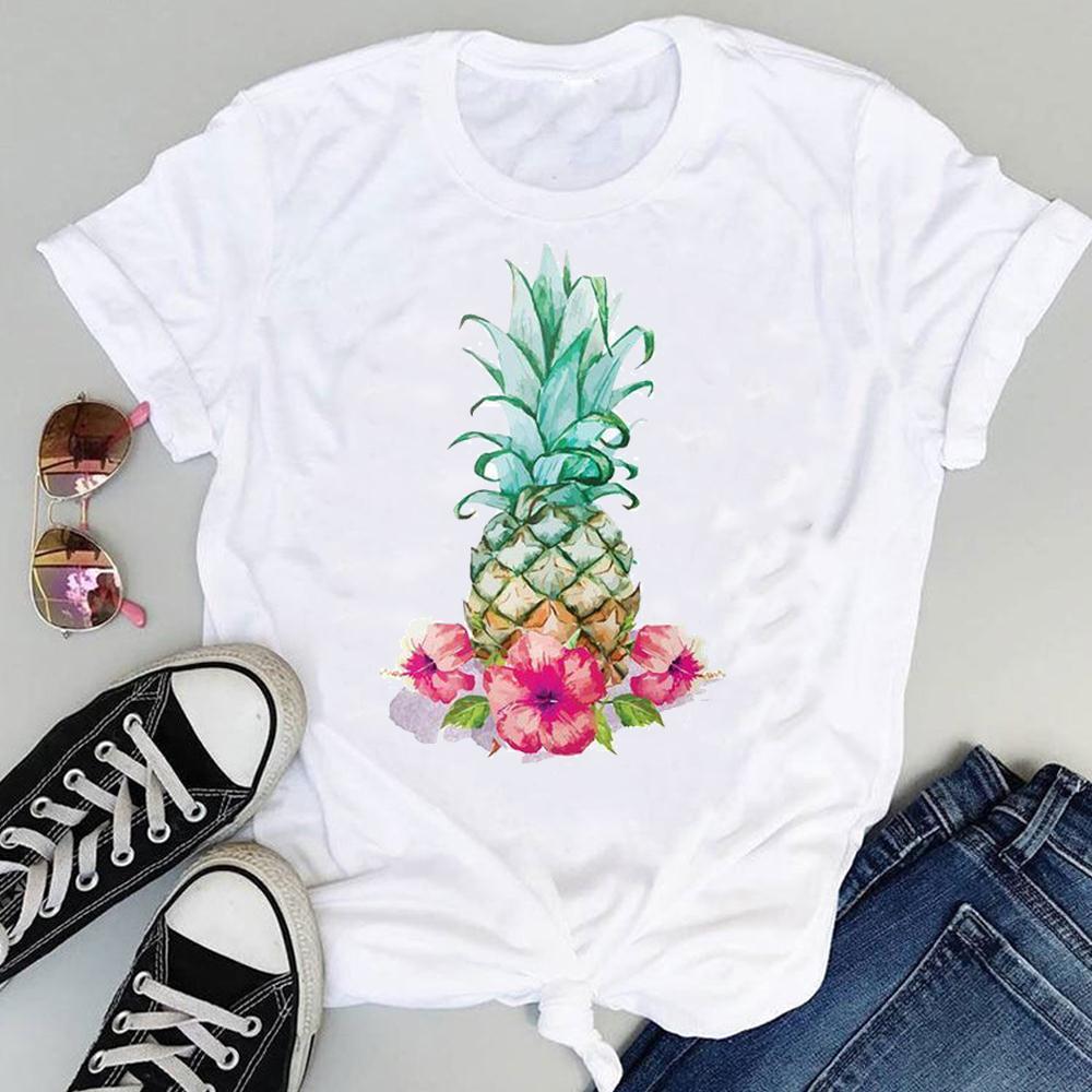 Women 2021 Strawberry Fruit Casual 90s Cartoon Short Sleeve Graphic Summer Fashion Print Female Clothes Tops Tees Tshirt T-Shirt 2