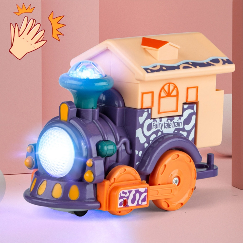 54DF Plastic Sensory Development Touch and Voice Control Train Toy for Kids and Children Early Education
