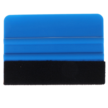 blue Vinyl Film Card Squeegee Car Foil Wrapping Suede Felt Scraper Window Tint Tools image