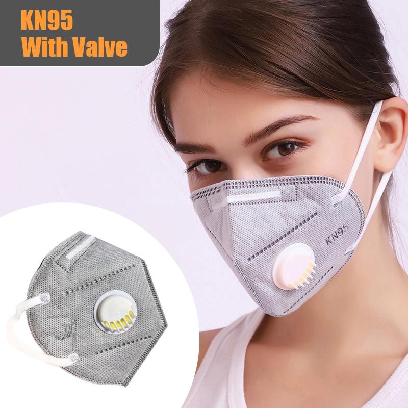 N95 FFP2 KF94 Face Mask Mouth Masks For Adult Kids Children Anti Dust Filter PM2.5 KN95 Hygiene Respirator With Valve