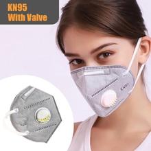 N95 Face Mask Mouth Masks Anti Dust Virus Filter PM2.5 KN95 Respirator Nonwoven With Valve 1pc 5pcs 10pcs