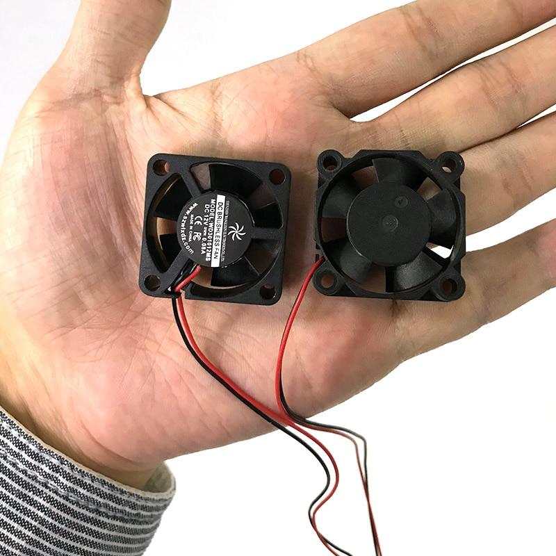 Mini 40000 Hours Thermoplastic 3010S 12V Brushless DC Fan Cooler Radiator Cooling Fan For Laptop 3D Printer 30*30*10mm 1 Pcs