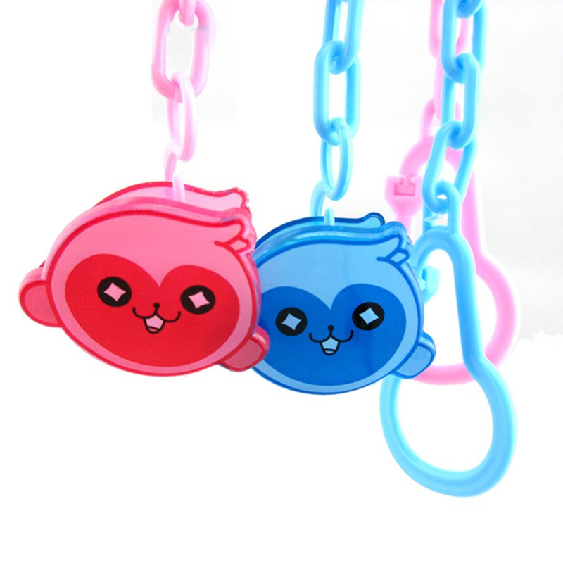 Baby Pacifier Clip Chain Newborn Pacifier Clips Dummy Pacifier Chain Clip Holder Baby Nipple Feeding Random Color 1pcs
