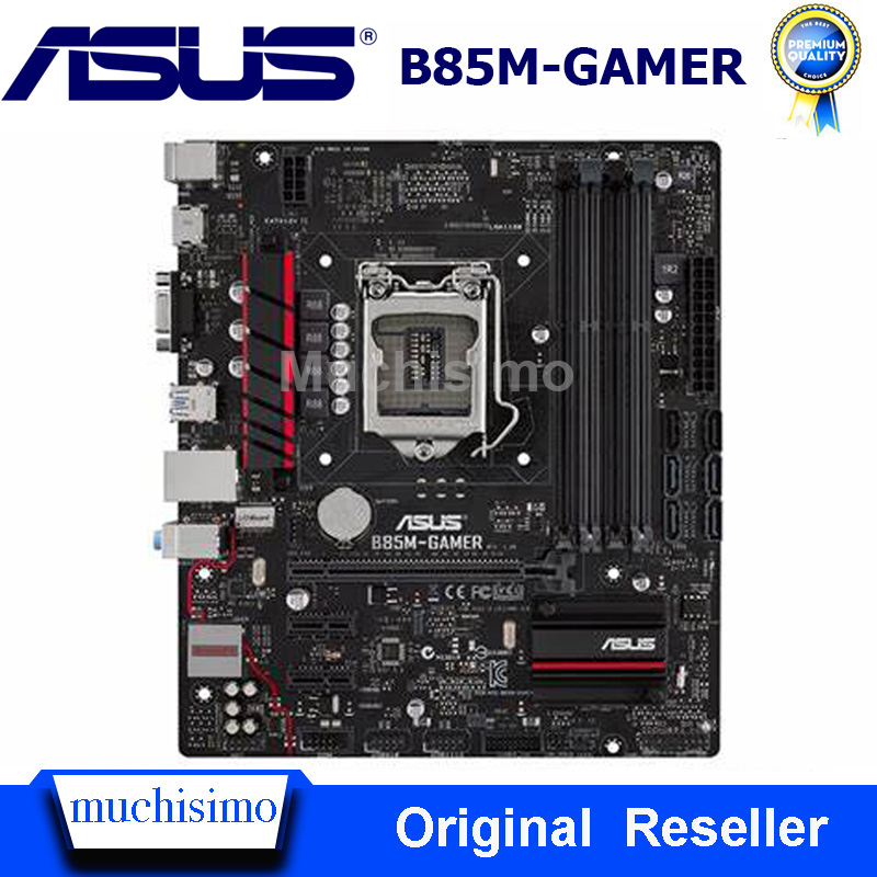 LGA 1150 DDR3 Original Motherboard For Asus B85M-GAMER LGA 1150 DDR3 I7 I5 I3 32GB SATA3 USB2.0 USB3.0 ROG Desktop Mainboard