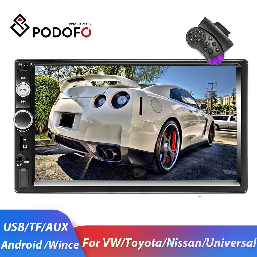 Podofo 2din Android Car Radio GPS Car Multimedia Player 2 DIN Autoradio For Volkswagen/Nissan/toyota/Golf/Kia/SKoda Car Stereo