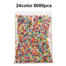 6000pcs spray beads puzzle Crystal color DIY beads water spray set ball games 3D puzzle