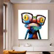 Graffiti moderne brouillard Pop Art toile affiches peintures animaux affiches murales et impressions grenouille avec des images pour salon Cuadros
