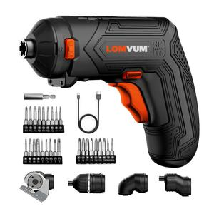 Image 5 - LOMVUM Cordless Screwdriver Electric Drill Set 4V USB Rechargeable Cordless Drill 27pcs Bits Changeable Twistable Home DIY Tool