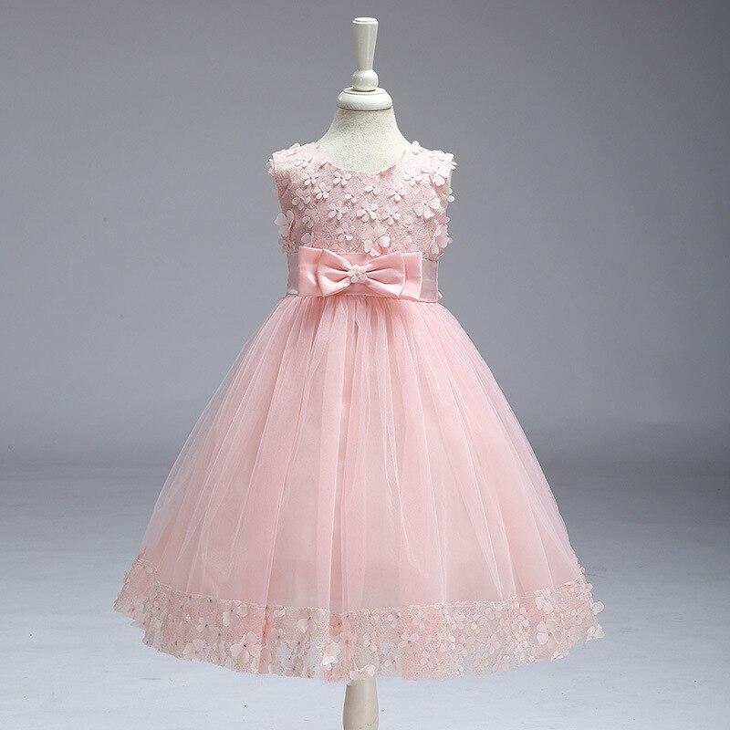 Vintage fleur filles robe pour mariage soirée enfants princesse fête Pageant longue robe enfants robes pour filles vêtements formels