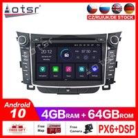 Android10.0 4G+64GB Car GPS DVD Player Multimedia Radio For Hyundai I30 Elantra GT 2012 2016 car GPS Navigation vedio player dsp