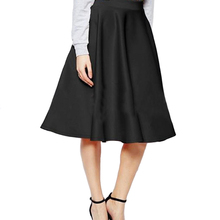 Girl Summer Solid Pleated Holiday Fashion Midi Women Skirt Gift High Waist Casual Below The Knee Simple