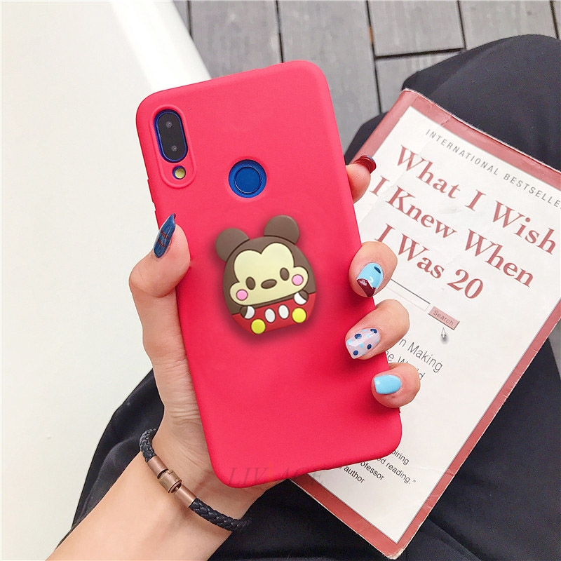 3D Cartoon Phone Holder Standing Case for Xiaomi Redmi Phone Made Of High-Quality Silicone And TPU Material 30