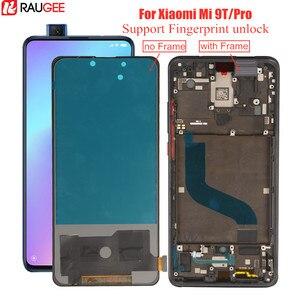 Wyświetlacz LCD dla Xiaomi Mi 9t ekran Lcd Amoled linii papilarnych odblokuj Digitizer testowane zamiennik dla Xiaomi Mi 9t Mi9t Pro wyświetlacz