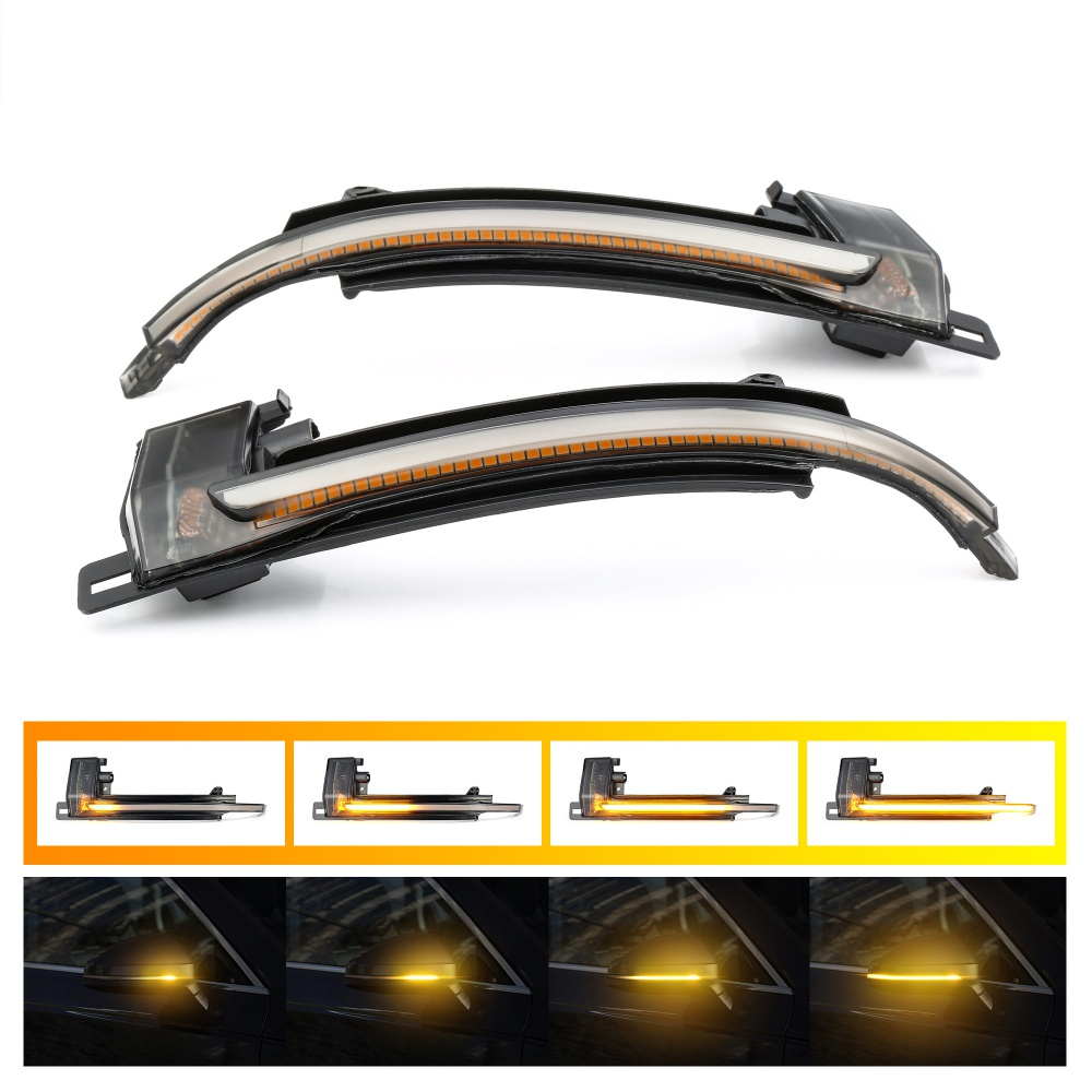 2 pieces Dynamic Blinker Mirror Light for Audi A4 A5 B8 A3 8P Q3 A6 C6 4F S6 LED Turn Signal Side Indicator Blinker SQ3 A8 D3 8K