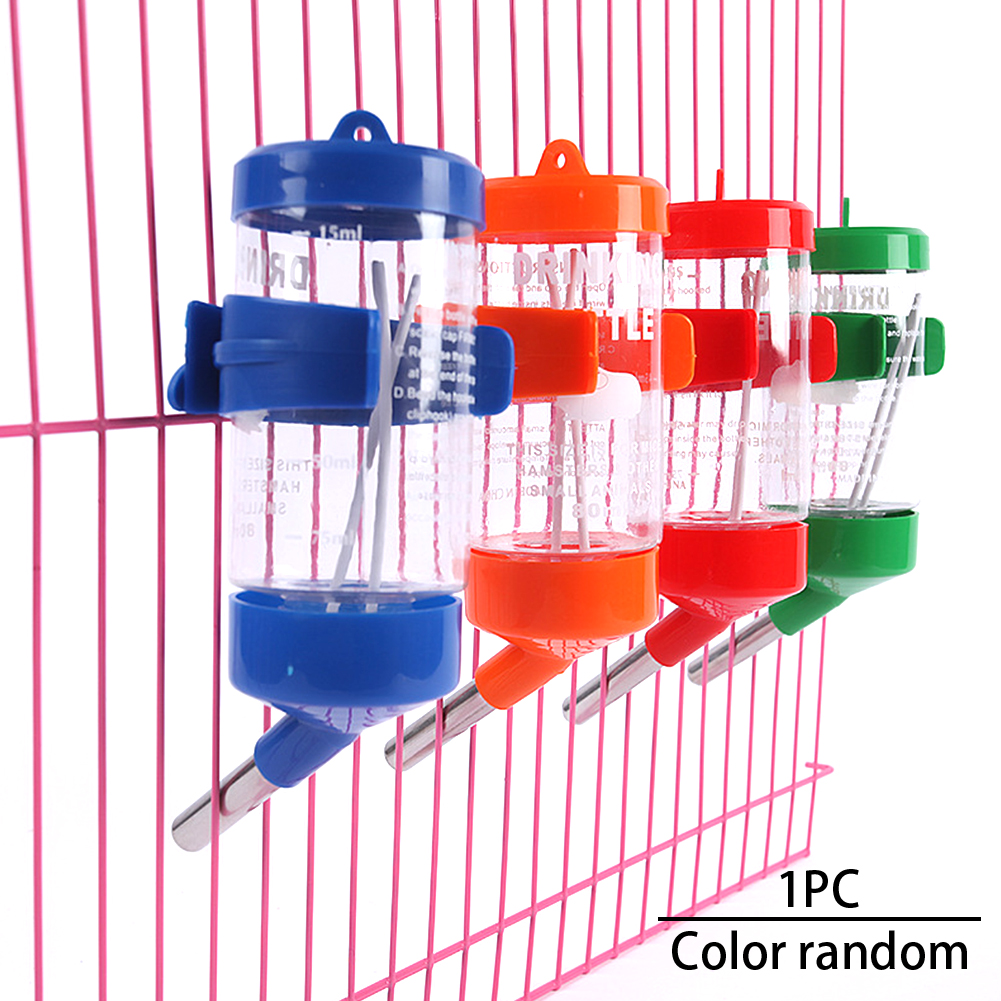 Anti Bite Random Color Plastic Rabbit Small Pet 125ml Hanging Dispenser Hamster Feeder Water Bottle Drinking Durable Universal