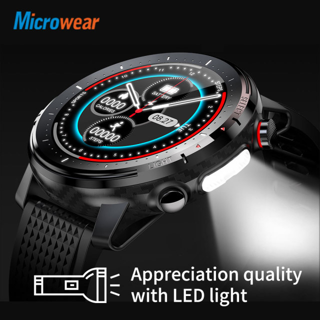 2020 New Microwear L15 Smart Watch Men IP68 Waterproof smartWatch ECG PPG Blood Pressure Heart Rate sport fitness Smartwatch 3