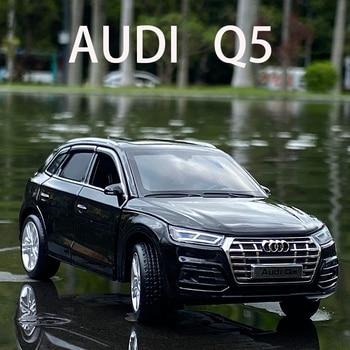 Бесплатная доставка 132 Масштаб новый Audi Q5 спортивный внедорожник автомобиль с отступить звук светильник Детский подарок коллекция литая Игрушечная модель