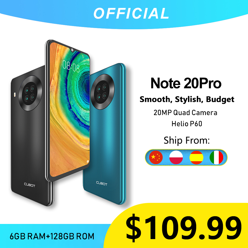 Cubot Note 20 Pro Quad Camera Smartphone NFC 6GB+128GB 6.5 Inch 4200mAh Android 10 Dual SIM Telephone 4G LTE celular Note20 Pro(China)