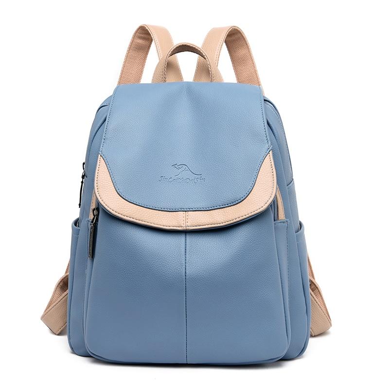 Women Leather Backpacks High Quality 2019 School Backpacks For Teenage Girls Sac A Dos Ladies Bagpack NewTravel Shoulder Bag