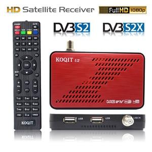 DVB S2X Decoder DVB-S2 Receptor free satellite tv Recevier Satellite Finder internat Autoroll Biss key power tv box Scam Youtube(China)
