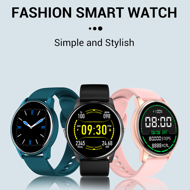 Women Smart Watch Real-time Weather Forecast Activity Tracker Heart Rate Monitor Sports Ladies Smart Watch Men For Android IOS 2
