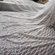 Black, Off white in stock eyelash french lace with cording gorgeous! 3 Meters=1 Piece lady long dress making wedding lace!