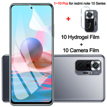 1~10 pcs, hydrogel film for redmi note 10pro soft glass redmi note 10s xiaomi note10 5G screen protector redmi note 10 pro