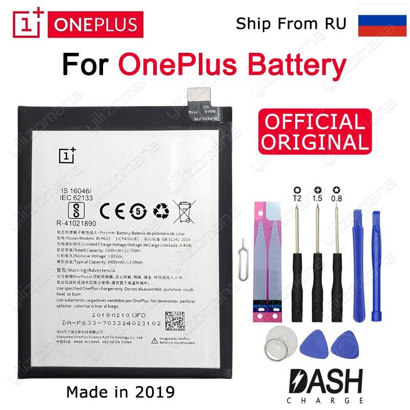 UM MAIS UM Telefone Original Bateria BLP633 3300/3400mAh Para OnePlus 3T A3010 Substituição de Alta Qualidade Baterias de Iões de lítio ferramentas gratuitas
