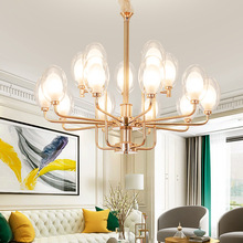Post-modern LED chandelier lighting Nordic glass hanging lamp Creative Iron fixtures for dining living room home deco bedroom стоимость