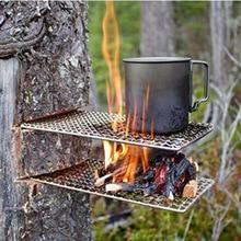 2 шт./компл. квадратный походный чайник из нержавеющей стали Стойка портативная сетка для барбекю инструменты посуда для пикника кемпинга