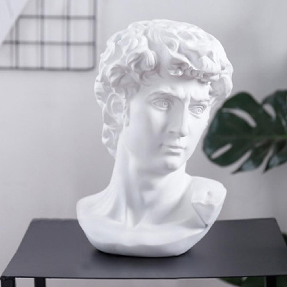 Resin David Head Sculpture Statue Sketch Practice Model Figurine Home Decoration