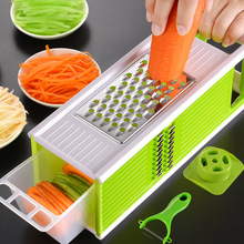 Multifunction grater multi-function vegetable cutter shredder square kitchen manual slicer