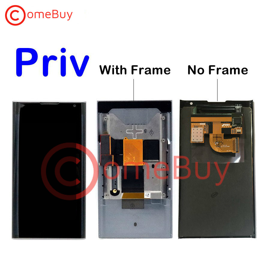 """For BlackBerry Priv LCD Display Touch Screen Digitizer Panel Assembly With Frame+Slider Flex Cable For 5.4"""" Blackberry Priv LCD(China)"""
