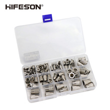 95Pcs and 300Pcs Stainless Steel Rivet Nut Rivnut Insert Nutsert KIT M3 M4 M5 M6 M8 M10 for Gun Riveting Riveter Tool