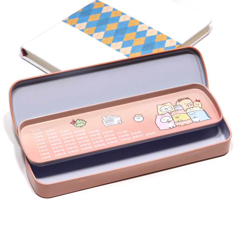 Double-layer Metal stationery box Cute pencil case Kawaii school Pencil cases gifts for kids student pen bag Cartoons pen cases