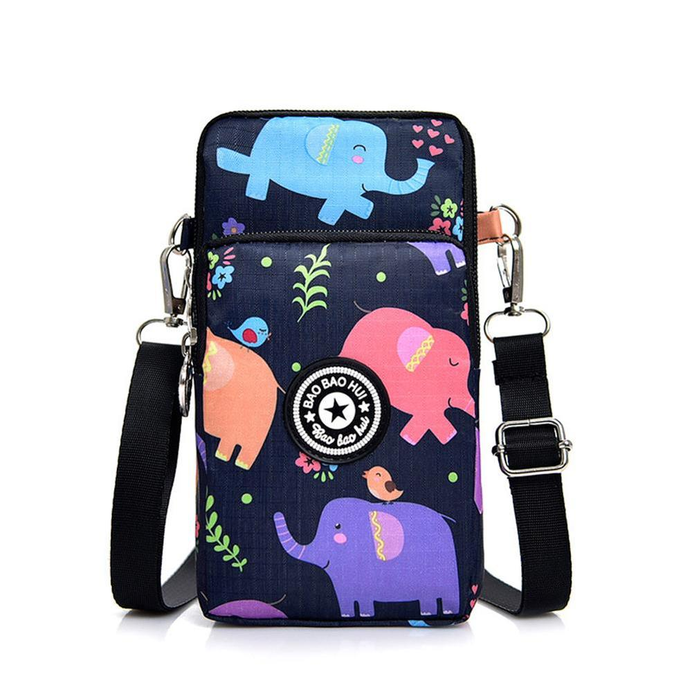 Women's Messenger Bag Korea Vertical Phone Bag Multifunctional Sports Arm Single Shoulder Cross-body Hanging Neck Purse Mini Bag