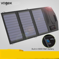 Vogek Solar Panel Portable Folding Waterproof Environmental Sun Energy Charger Power Bank Type C USB for Phone Charger Outdoor