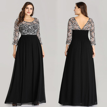 Plus Size Mother Of The Bride Dresses Elegant Blue A Line O Neck Long Sleeve Long Lace Formal Party Gowns Robe De Soiree