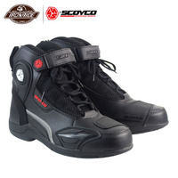 SCOYCO Men Motorcycle Boots Motorcycle Shoes Moto Protion Botas Moto Motocross Boots Biker Racing Riding Boots|Motocycle Boots| |  -