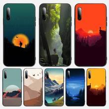 3D Emboss Mountain Phone Case For Samsung S note S10E 6 7 8 9 10 20 plus edge lite Cover Fundas Coque