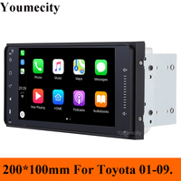 Youmecity Android 9.0 2DIN Corolla RAV4 Camry Car DVD GPS for Toyota Terios Yaris Old fortuner radio wifi Capacitive 1024*600